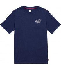 herschel t-shirt supply co. men tee classic logo peacoat white-l