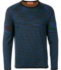 missoni reversible striped sweater - blue
