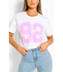 92 collegiate t-shirt, white