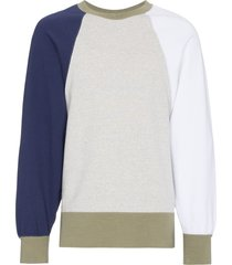visvim big sleeve cotton sweatshirt - neutrals