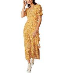 cotton on woven ri ruffle wrap maxi dress