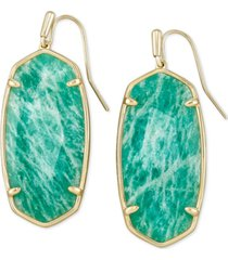 kendra scott oval stone drop earrings