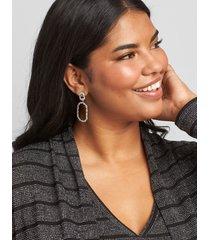 lane bryant women's double-oval drop earrings onesz silver tone