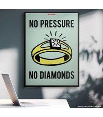 cuadro lienzo monopoly - no pressure no diamonds