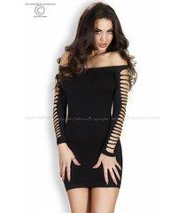 * chilirose zwart naadloze jurk cr3608-b
