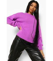 oversized gebreide trui, purple