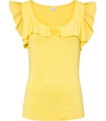 top con volant (giallo) - bodyflirt