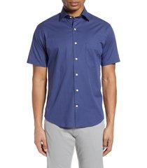 men's peter millar block island short sleeve button-up shirt