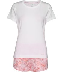 s/s short set pyjamas rosa calvin klein