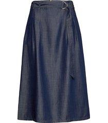 skirt short woven fa knälång kjol blå gerry weber edition