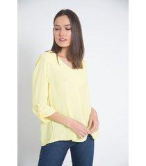 blusa amarilla a.d.e.