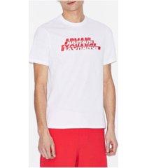 ax armani exchange men's colorblock logo t-shirt