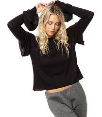 sweater negro asterisco girondo