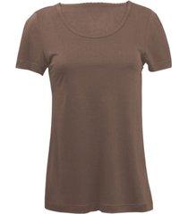 zijden-shirt met korte mouwen uit organic silk, gestippeld 36/38