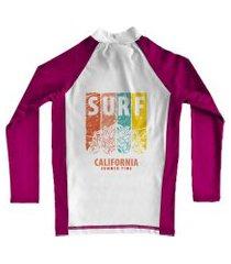 camiseta de lycra comfy califórnia rosa