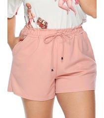 bolsillo con cordón de talla grande diseño atado diseño shorts