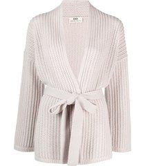 sminfinity chunky-knit cashmere cardi-coat - neutrals