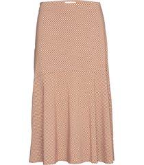 hailey midi skirt printed knälång kjol rosa soft rebels