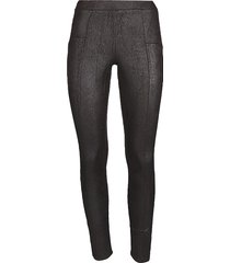memoi women's crackle fashion leggings - black - size s/m