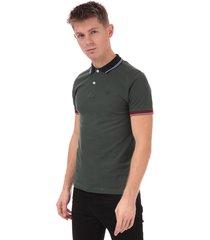 mens full contrast piquet polo shirt