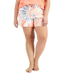 jenni cotton tie-dyed pajama shorts, created for macy's