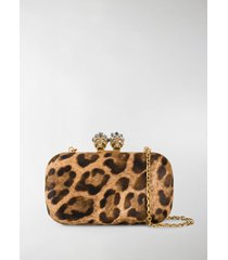 alexander mcqueen king queen leopard clutch