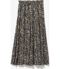 proenza schouler white label inky dot pleated skirt black/ecru inky dot 8