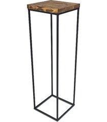 kwietnik metalowy z drewnem 80 cm