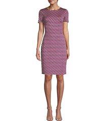 geometric-print sheath dress