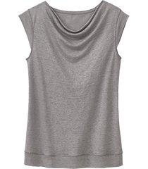 linnen jersey shirt, zilver 44/46