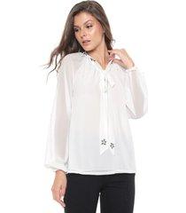 blusa fiya lady pedrarias branca