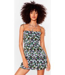 womens all we grow floral mini dress - black