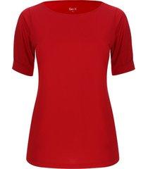 camiseta cuello redondo unicolor color rojo, talla 16