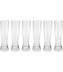conjunto 6 copos de cristal cerveja catarina 180ml classic