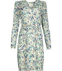 jurk met bloemenprint oryn  blauw