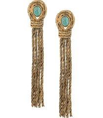 aurelie bidermann rope-chain tassel drop earrings - gold