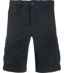 incotex relaxed-fit logo cargo shorts - blue