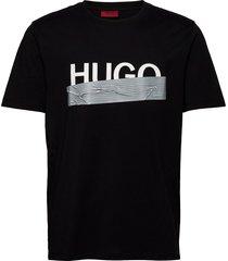 dicagolino_u204 t-shirts short-sleeved svart hugo
