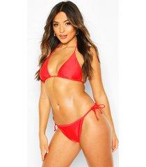 bikinibroekje met zijstrik voor korte maten, rood