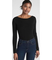 chaleco boatneck mujer negro gap