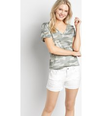 vigoss® womens classic white ripped fray cuffed hem 4in shorts - maurices