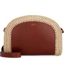 a.p.c. demi-lune leather crossbody bag