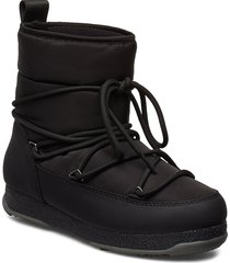 snowflake low shoes boots ankle boots ankle boots flat heel svart svea