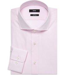 sharp-fit long-sleeve dress shirt