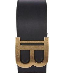 balmain logo buckle belt