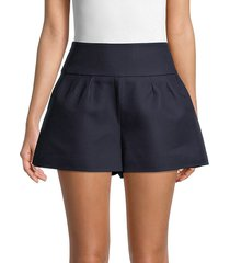 redvalentino women's solid a-line shorts - blue - size 46 (14)