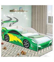 cama carrinho solteiro verde casah