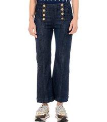 cropd kick sailor jeans