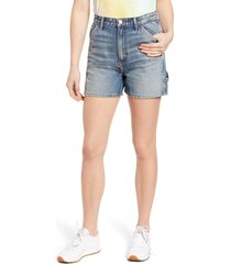 lee high waist dungaree shorts, size 31 in long live lee at nordstrom