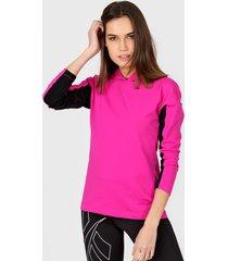 buzo rosa darling sport combinado con capucha